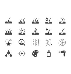 hair cosmetic flat icons vector image