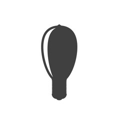 icon oval light bulb on white background vector image
