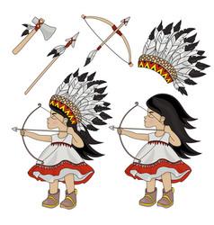 Indian hunter pocahontas princess vector