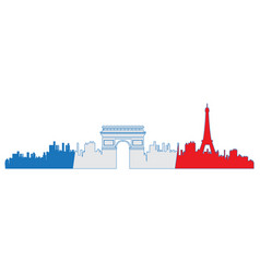 Isolated cityscape of paris vector