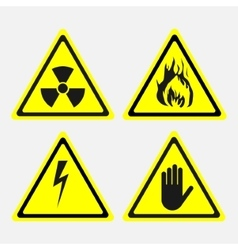 labels set biological threats radiation vector image