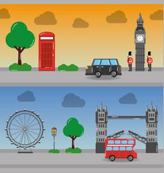 london england toruism travel landmark symbol vector image