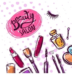 make up sketch vector image