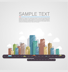 modern city landscape background vector image