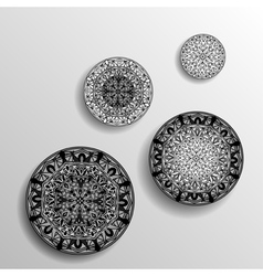 Monochrome decorative design element with a vector