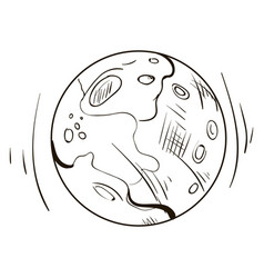 moon drawing on white background vector image