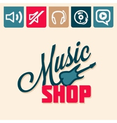 music shop vector image