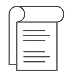 Notepad thin line icon sheet of paper vector
