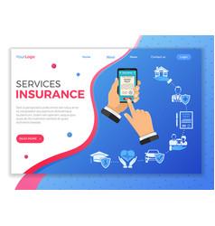 online insurance services concept vector image