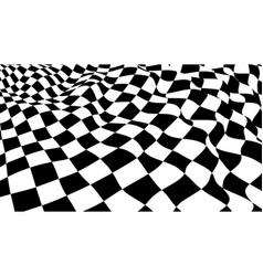 Optical illusion checker texture vector
