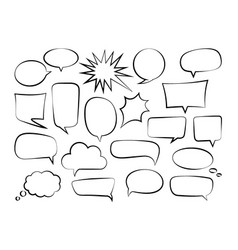 outline speech bubbles-01 vector image