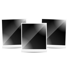 photo frames instant photoframes wih isolated vector image
