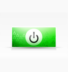 Power button technology logo digital art techno vector