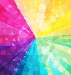 Rainbow bright background with rays5 vector image