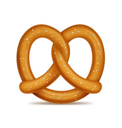 realistic 3d detailed pretzel traditional bread vector image