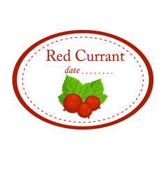 red currant label disign isolated on whit vector image