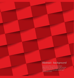red geometric background texture with shadow vector image