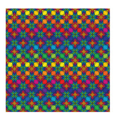 Rhombus shape colorful pattern seamless vector
