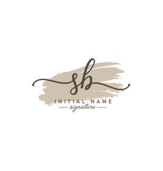 Sb initial letter logo - handwritten signature vector