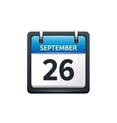 September 26 Calendar icon vector