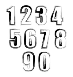 Set of Grunge Numbers vector
