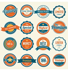 Set of retro vintage badges and labels eps10 vector image