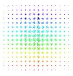 Spiral galaxy shape halftone spectral grid vector