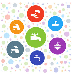 Tap icons vector