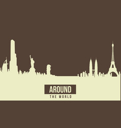 Theme of travel background collection vector