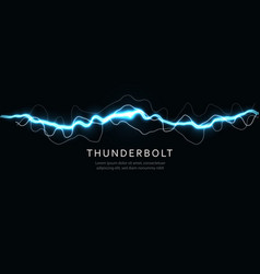Thunderbolt isolated lightning electric current vector