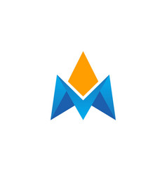 Triangle brand initial 3d company logo vector