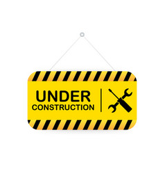 Under construction sign for website vector