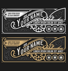 vinatge label for packing template layered vector image