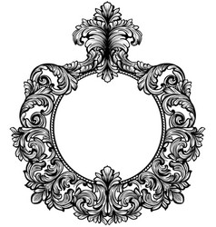 vintage baroque frame decor detailed rich vector image vector image