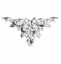 Vintage floral motif vector
