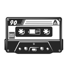 vintage monochrome audio casette template vector image