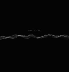 Wave technology background music particle vector