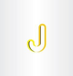 Yellow logo letter j symbol design vector