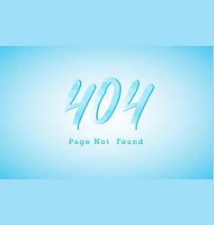404 error page flat line concept vector image