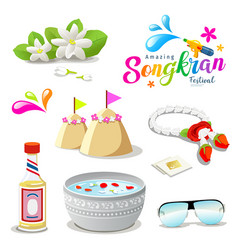 Amazing thailand songkran festival collections vector