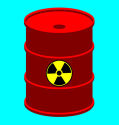 barrel with nuclear waste vector image vector image