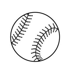 Baseball ball sign black vector image