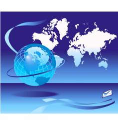 globe email background vector image vector image