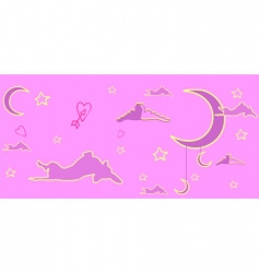 pink dream of a dog vector image vector image