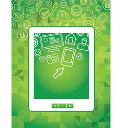 tablet pc concept vector image