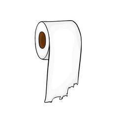 toilet paper roll symbol icon design beautiful vector image