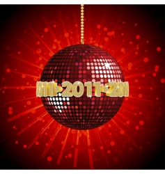 2011 disco ball vector