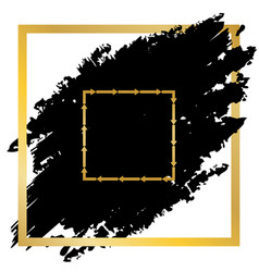 arrow on a square shape golden icon at vector image vector image