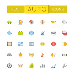 Flat Auto Icons vector image