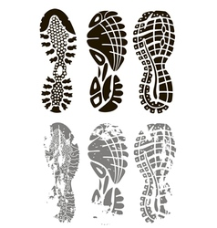 foot print vector image vector image